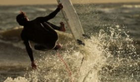 Surfing in Canelones