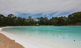 Mergulhar na primeira lagoa…