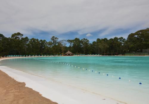 Sumergirse en la primera laguna cristalina de Uruguay